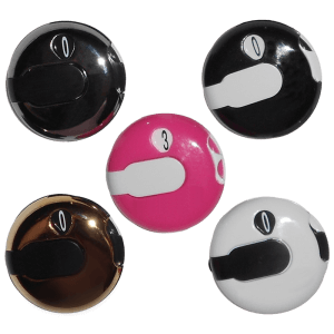 Fiver Circular Golf Counters in Multiple Colors