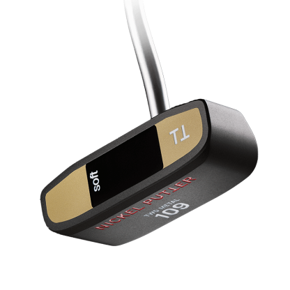 Black and Gold Putter Head